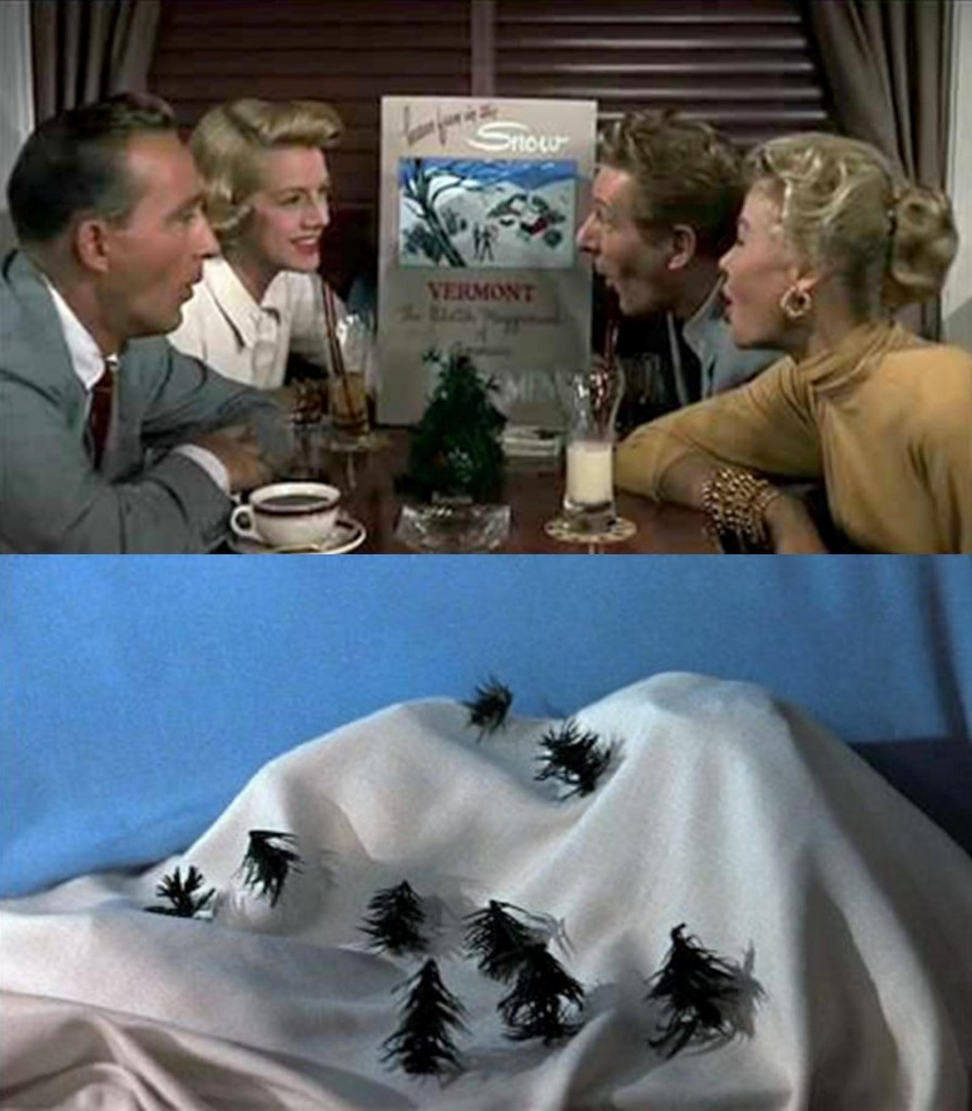 white christmas bing sings snow train