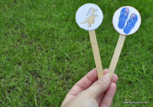 Australia Day Craft for Kids -- bookmark