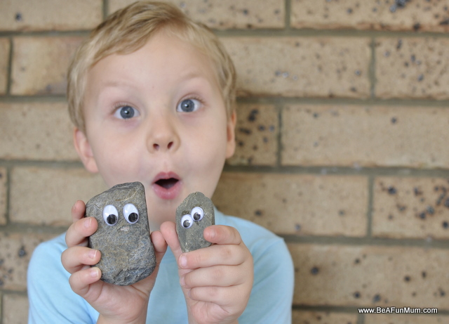 pet rock make activities kids
