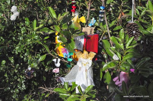 imaginative play scene -- tree house
