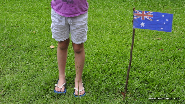 Australia Day Craft: Australian Flag Template printable