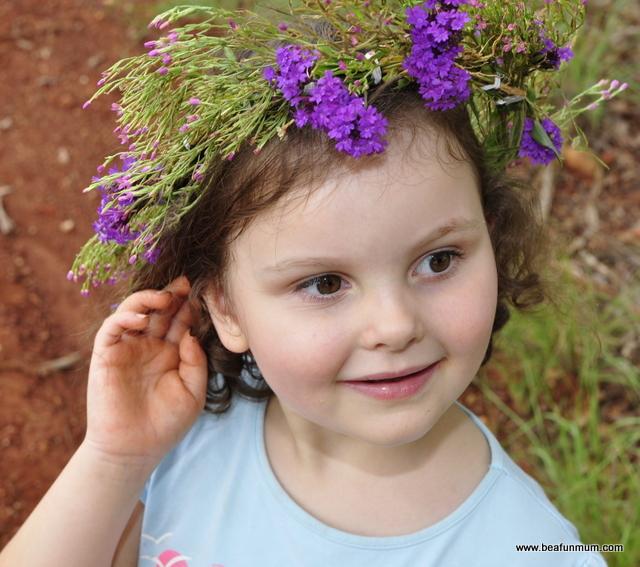 Fresh flower head wreath
