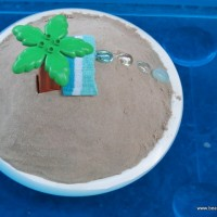 imaginative play scene -- desert island -- step 3