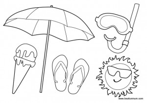 Free Beach Colouring Page -- Australian Summer