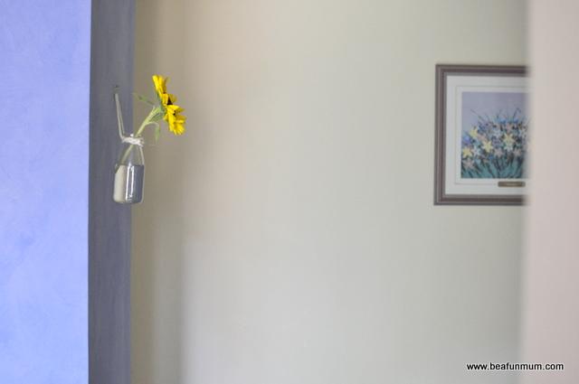 hanging wall vase
