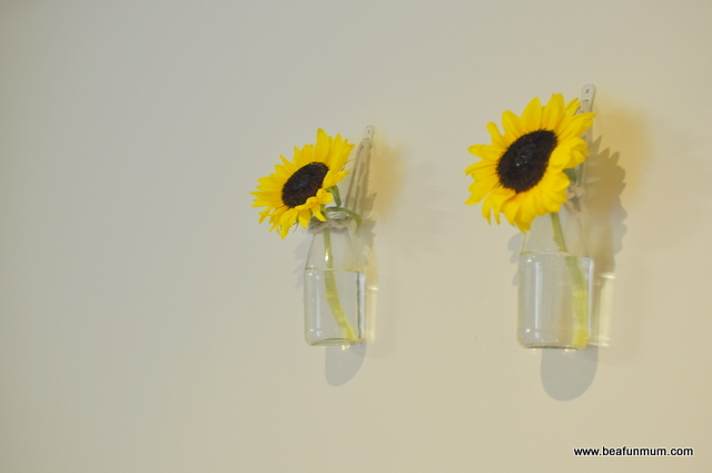 juice bottle hanging wall vase