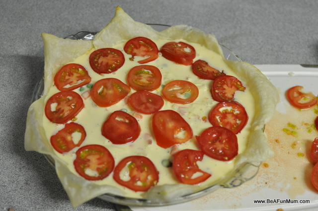 quiche recipe -- tomato