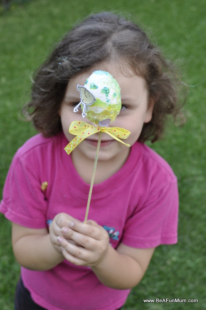 Easter Craft: Easter Egg Wand