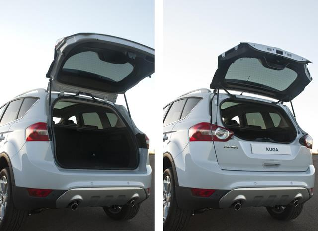 ford kuga review -- Rear tailgate with flip glass