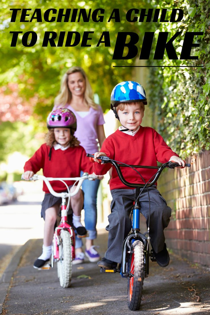 Teaching a child to ride a bike in 4 steps