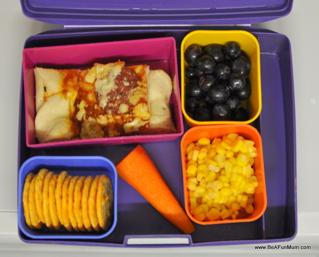 Lunch box ideas -- pizza