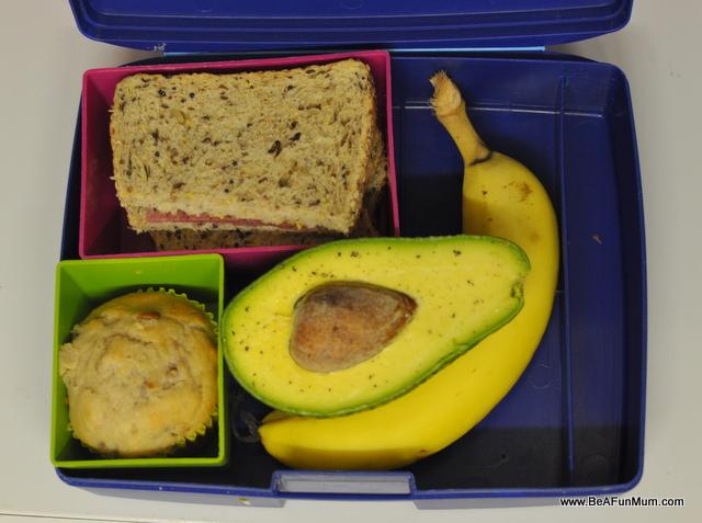 lunch box ideas -- corned beef sandwich