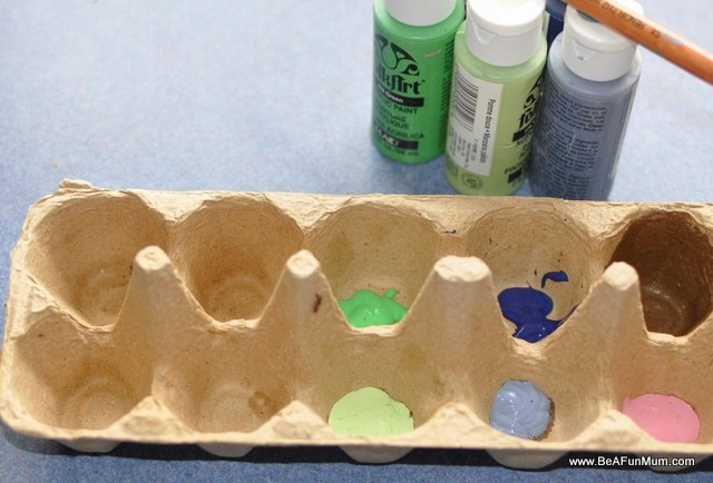 egg carton use for paint