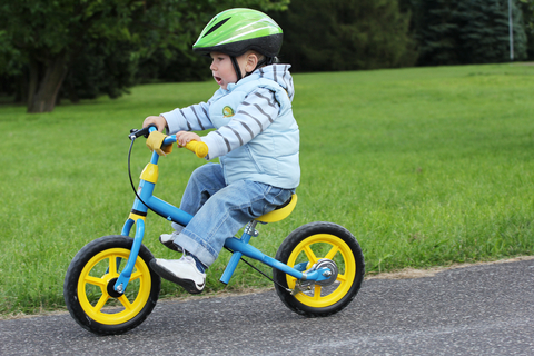 teaching your child to ride a bike -- coasting without pedals