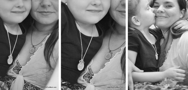 inspirational resin necklace -- mother daughter