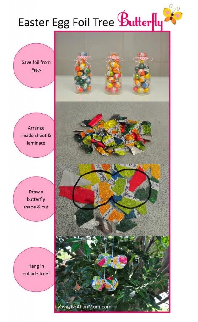 Easter craft -- Easter Egg Foil Butterfly
