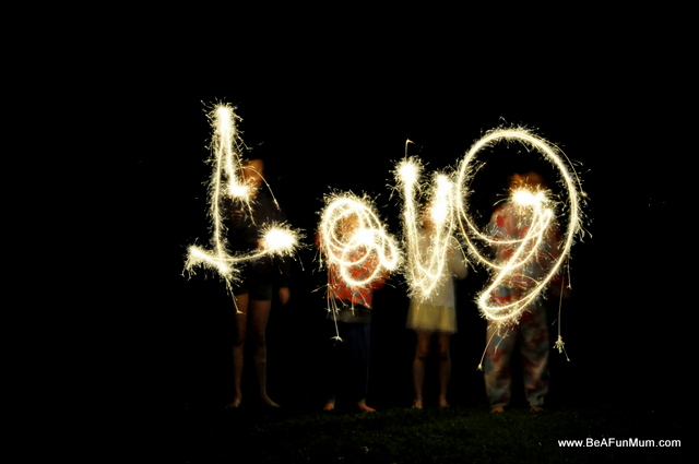 Love sparkler picture