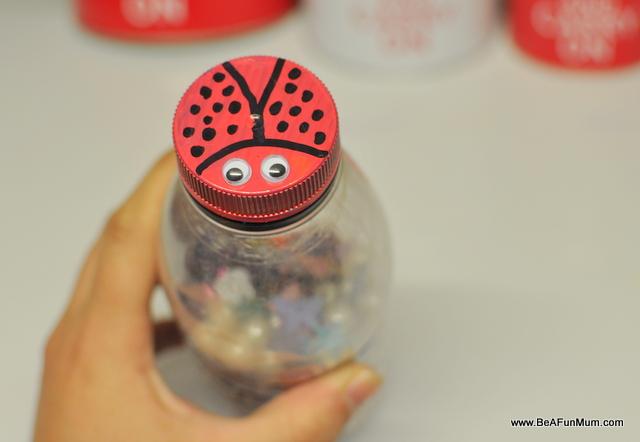 lady bug craft - shaker - on beafunmum.com