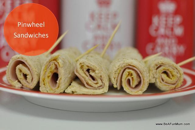 pinwheel sandwiches fibre