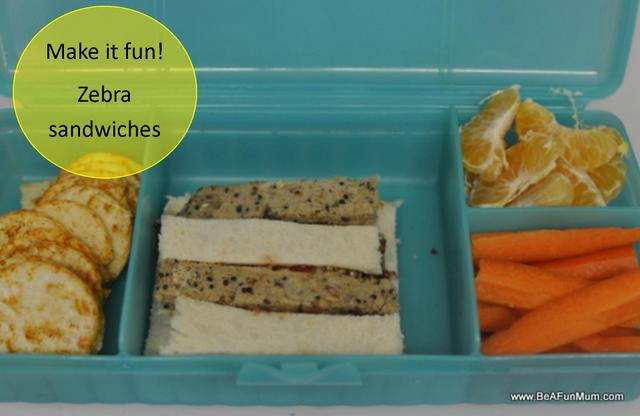 fibre and kids -- zebra sandwiches