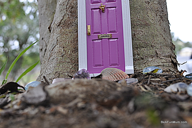 imaginative play scene -- fairy door