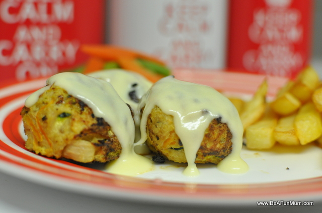 chicken ball recipe with cheese sauce