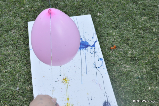 family art -- balloon painting with food colouring