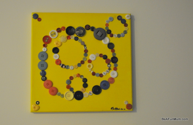 button on canvas