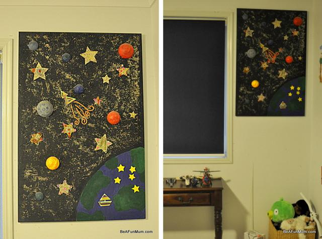 painting on canvas -- 3 D Space theme