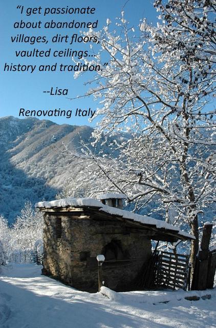 lisa renovating italy