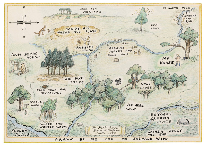 winnie the pooh_map