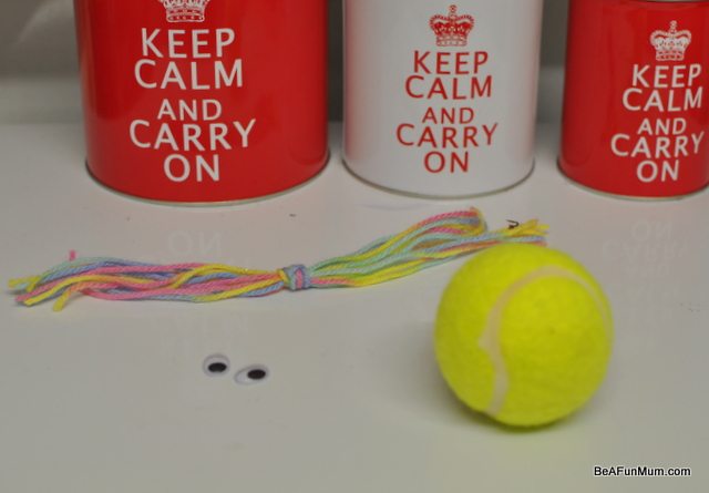 tennis ball head puppet fun craft
