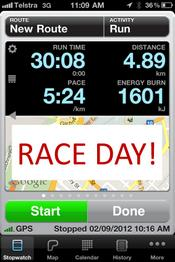 training for the bridge to brisbane 2012 race day
