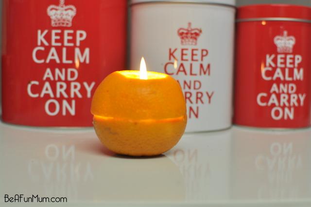 orange candle lantern