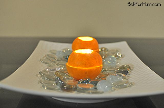 orange lantern centrepiece