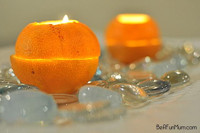 how to make an orange lantern candle