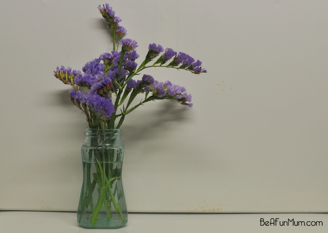 how to tint a jar blue for flowers
