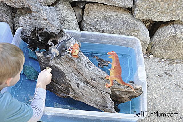 play scene -- dinosaur island