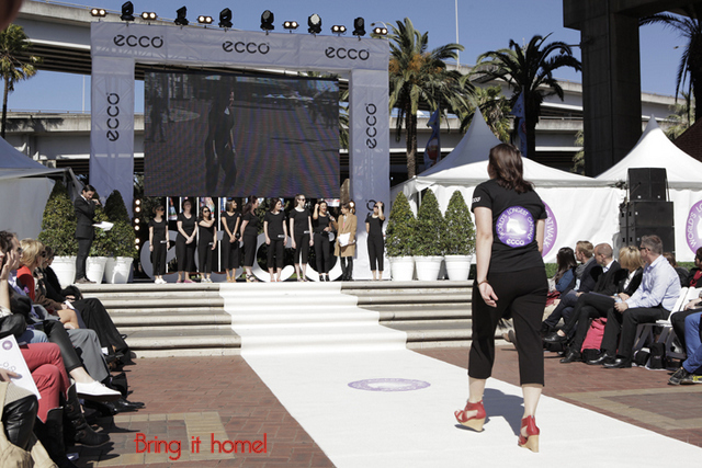 Ecco World's Longest Catwalk Sydney Darling Harbour -- Kelly Burstow -- 24 August 2012