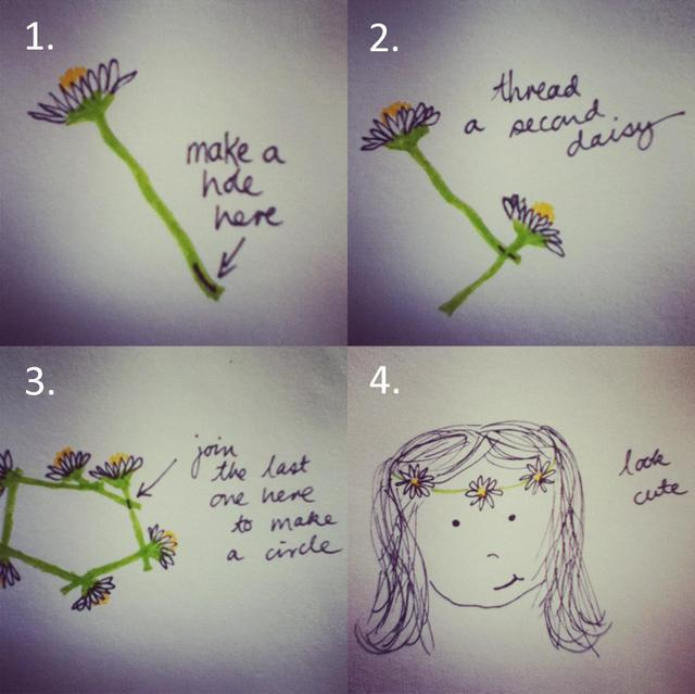 how to make a daisy chain instructions