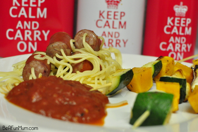 spaghetti threaded sausage recipe