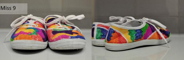 kids sharpie shoe design