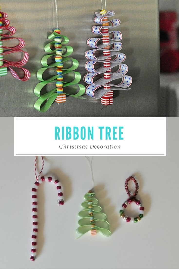 Ribbon christmas tree decoration be a fun mum for Christmas decoration ideas to make