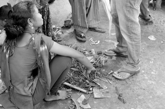 rag pickers -- new dehli -- india
