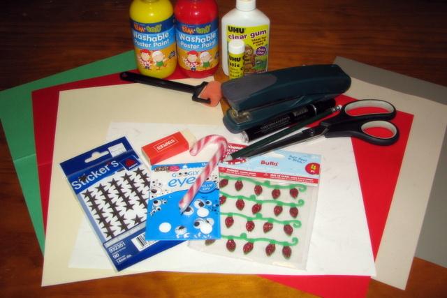 homemade christmas cards -- materials
