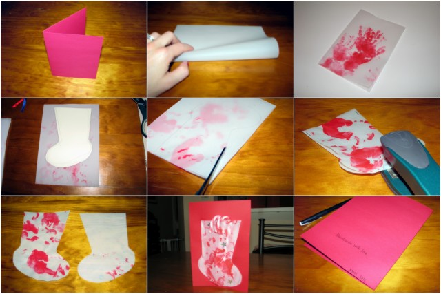 Homemade Christmas Cards -- Stocking