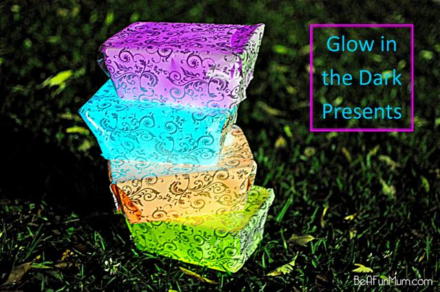 glow in the dark presents -- christmas game
