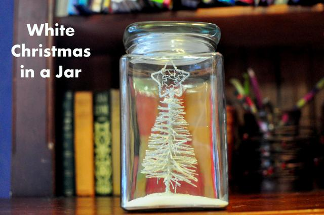 white christmas in a jar