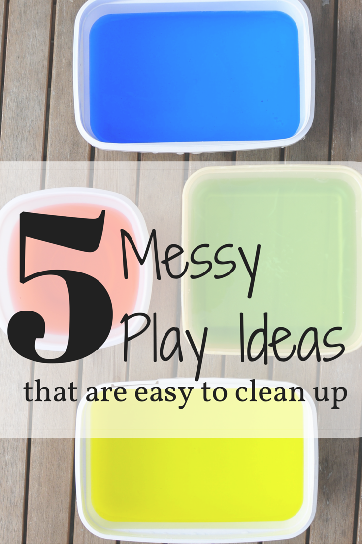 5 messy play ideas that are easy to clean up