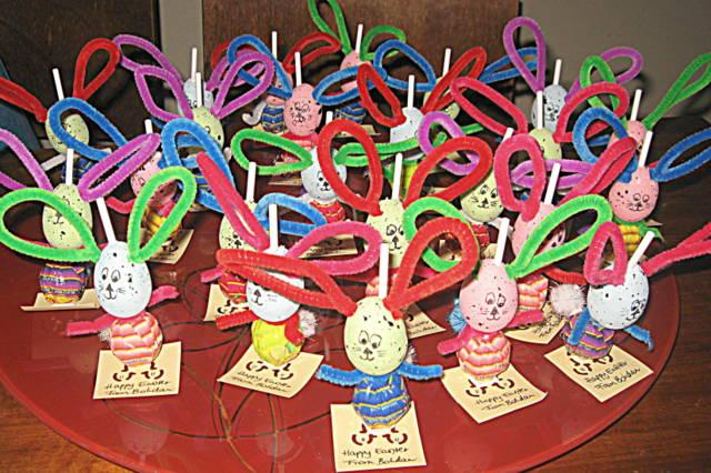 easter craft -- lollipop bunny
